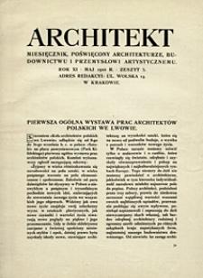 Architekt 1910 z. 5