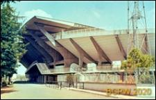 Stadion Flaminio, widok konstrukcji trybun od strony drogi otaczającej stadion, Rzym, Włochy