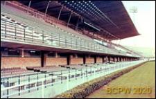 Stadion Flaminio, fragment trybuny głównej z charakterystycznym przykryciem, Rzym, Włochy