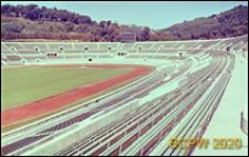 Stadion Olimpijski, fragment widowni i bieżni, Rzym, Włochy