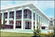 Gmach Ambasady Stanów Zjednoczonych, widok naroża budynku oraz wejście do budynku, Ateny, Grecja