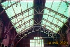 Giełda Berlage przy ulicy Damrak w centrum miasta, wnętrze, konstrukcja dachu, Amsterdam, Niderlandy