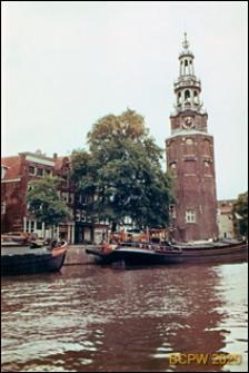 Wieża portowa, widok zewnętrzny, Amsterdam, Niderlandy