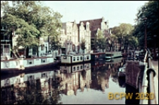 Kanał Herengracht, widok ogólny, Amsterdam, Niderlandy