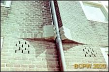 Osiedle mieszkaniowe zbudowane w latach 1920-1930, detal konstrukcji muru, Amsterdam, Niderlandy