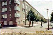 Osiedle mieszkaniowe zbudowane w latach 1920-1930, budynek mieszkalny pięciokondygnacyjny, widok ogólny, Amsterdam, Niderlandy