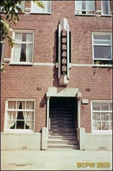Budynek mieszkalny, fragment elewacji z wejściem, Amsterdam, Niderlandy