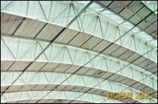Centrum wystawowo-kongresowe RAI, hala Europahal RAI, wnętrze, detal konstrukcji stropu, Amsterdam, Niderlandy