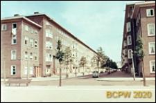 Osiedle mieszkaniowe zbudowane w latach 1920-1930, fragment zabudowy, Amsterdam, Niderlandy