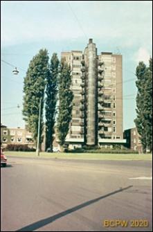 Wieżowiec mieszkalny, widok od strony ulicy, Amsterdam, Niderlandy