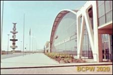 Centrum wystawowo-kongresowe RAI, hala Europahal RAI, szklana elewacja budynku, Amsterdam, Niderlandy