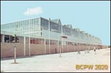 Centrum wystawowo-kongresowe RAI, hala Europahal RAI, elewacja boczna budynku, Amsterdam, Niderlandy