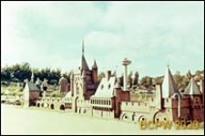 Park miniatur Madurodam, miniaturowy zamek, Haga, Niderlandy