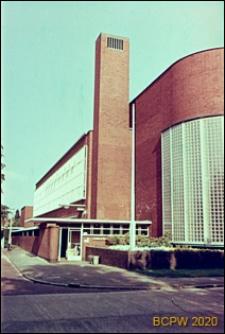 Szkoła imienia Snelliusa, fragment elewacji budynku, Hilversum, Niderlandy