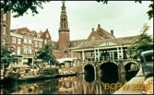 Ratusz i most, widok ogólny, Leiden, Niderlandy
