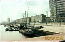 Zabudowa nabrzeża portowego i fragment portu, Rotterdam, Niderlandy