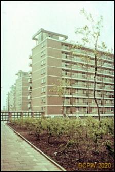 Ciąg budynków ośmiokondygnacyjnych, widok ogólny, Rotterdam, Niderlandy