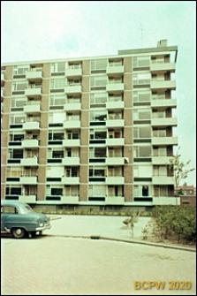 Budynek mieszkalny ośmiokondygnacyjny, fragment elewacji, Rotterdam, Niderlandy