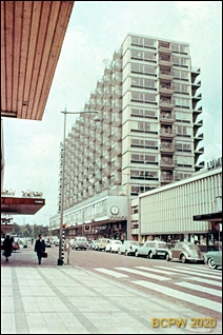 Śródmieście, budynek mieszkalny wielokondygnacyjny, widok od strony ulicy, Rotterdam, Niderlandy