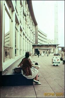 Dworzec Centralny, fragment elewacji z wejściem, Rotterdam, Niderlandy