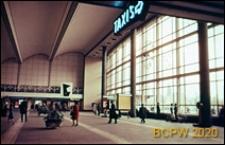 Dworzec Centralny, wnętrze hali, Rotterdam, Niderlandy