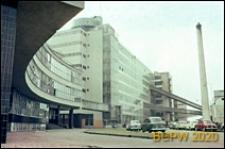 Fabryka Van Nelle, budynek administracji, fragment elewacji z wejściem, Rotterdam, Niderlandy