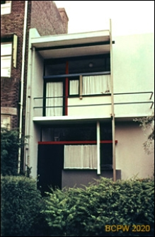 Willa prywatna Schröderhuis, fragment elewacji, Utrecht, Niderlandy