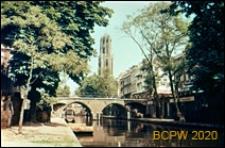 Most nad kanałem, Utrecht, Niderlandy