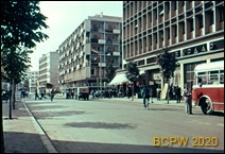 Zabudowa mieszkaniowa w centrum miasta, widok od strony ulicy, Skopje, Macedonia Północna