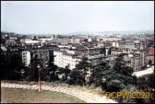 Widok panoramiczny z Kamiennej Góry, na pierwszym planie zabudowa mieszkaniowa, Gdynia