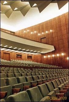 Teatr Wielki, widok wnętrza, sala teatralna, Łódź