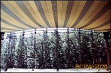 Opera Leśna, przekrycie namiotowe widowni, widok w kierunku sceny, Sopot
