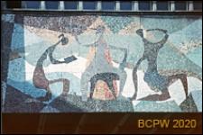 """Kino """"Kosmos"""", detal, mozaika na frontonie, Szczecin"""