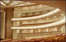 Teatr Wielki Opery i Baletu, widok wnętrza, sala teatralna, zbliżenie na balkony, Warszawa