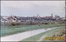 Panorama miasta, widok od strony rzeczki i terenów zielonych, Lublin