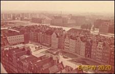 Długi Targ, panorama, widok z wieży ratusza, Gdańsk