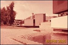 Dom Akademicki III, pawilon stołówki, widok zewnętrzny, Berlin, Niemcy