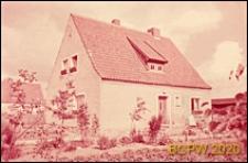 Dom jednorodzinny, widok od strony ogrodu, Wismar, Niemcy