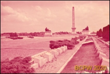 Cmentarz Mauzoleum Żołnierzy Radzieckich przy ulicy Żwirki i Wigury, widok alei głównej, Warszawa