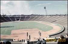 Stadion Dziesięciolecia, widok z trybuny na boisko, Warszawa
