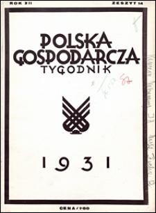 Polska Gospodarcza 1931 nr 14
