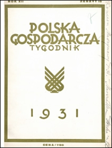 Polska Gospodarcza 1931 nr 15