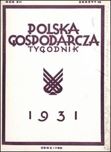 Polska Gospodarcza 1931 nr 19