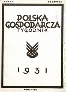 Polska Gospodarcza 1931 nr 20