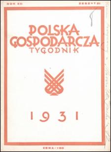 Polska Gospodarcza 1931 nr 21