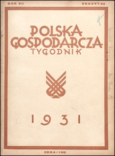Polska Gospodarcza 1931 nr 24