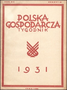 Polska Gospodarcza 1931 nr 31