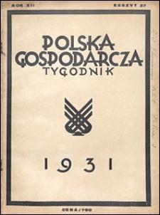 Polska Gospodarcza 1931 nr 37