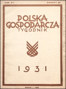 Polska Gospodarcza 1931 nr 38