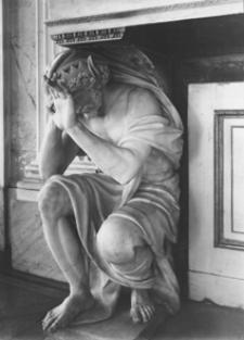 Łazienki Królewskie. Herma króla Midasa z kominka Apolla Belwederskiego w Sali Balowej
